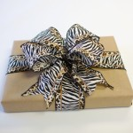 Brown Paper and Zebra Bow